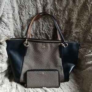 Coach Bag w/ Matching Clutch Wallet